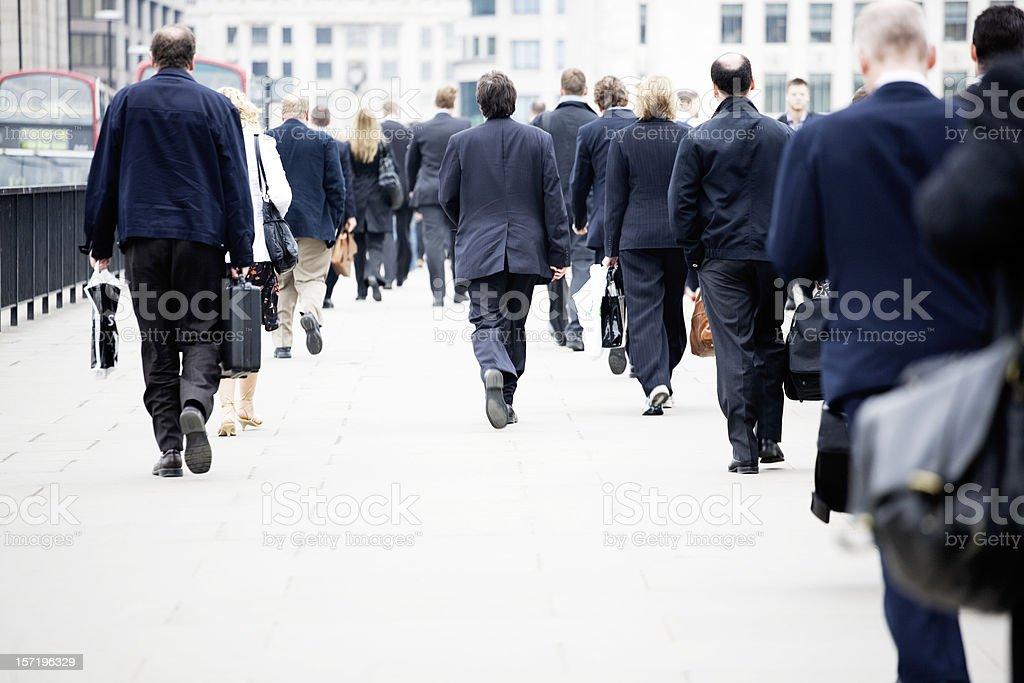 Business rush stock photo