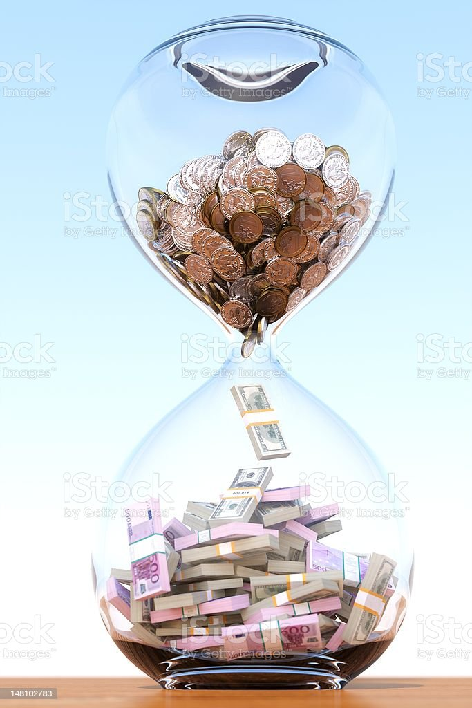 business sand clock stock photo