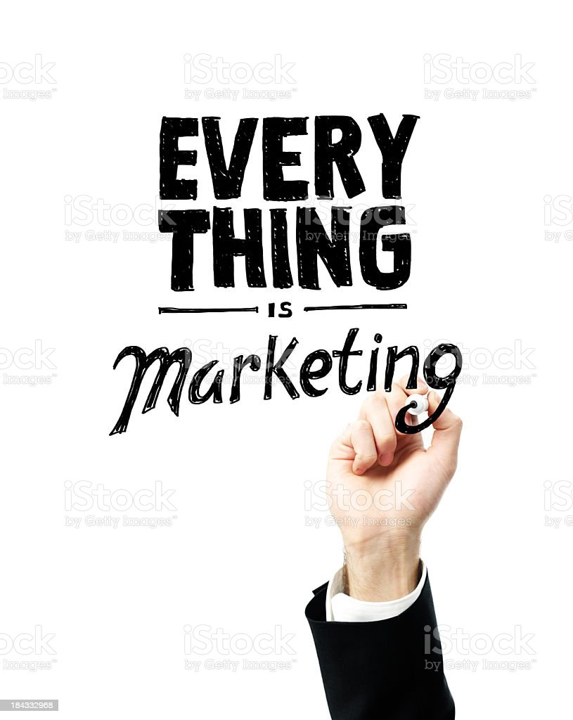 Business Sayings - Everything is Marketing stock photo