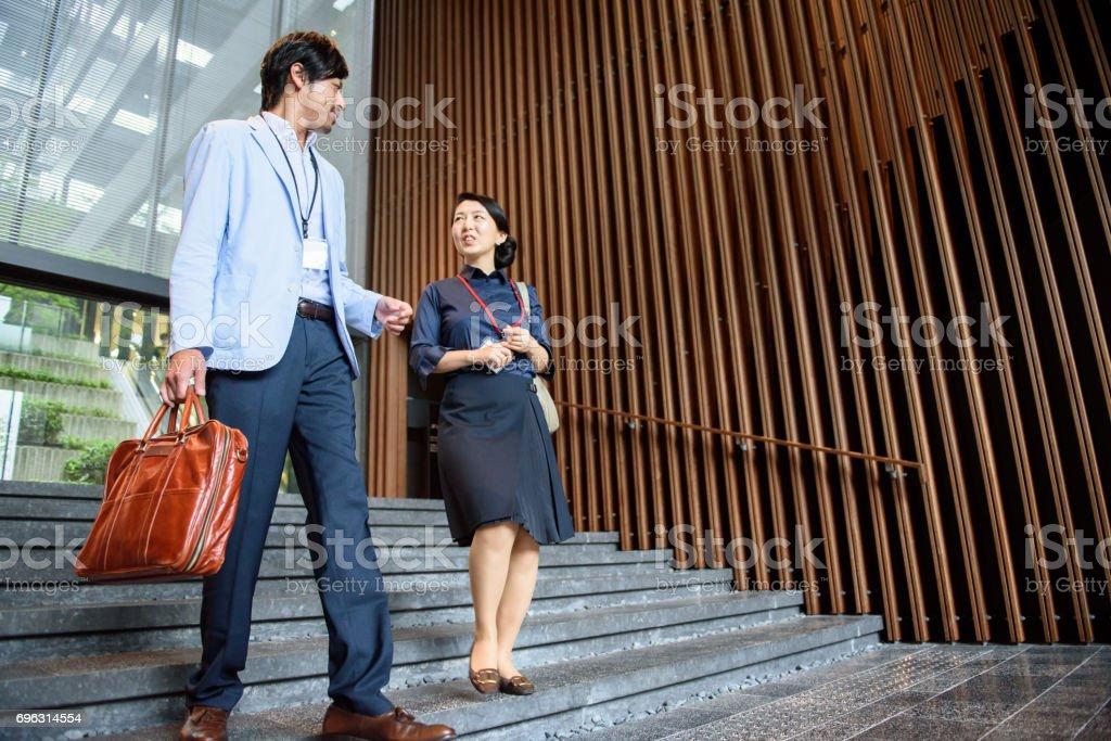 business scene in Japan stock photo