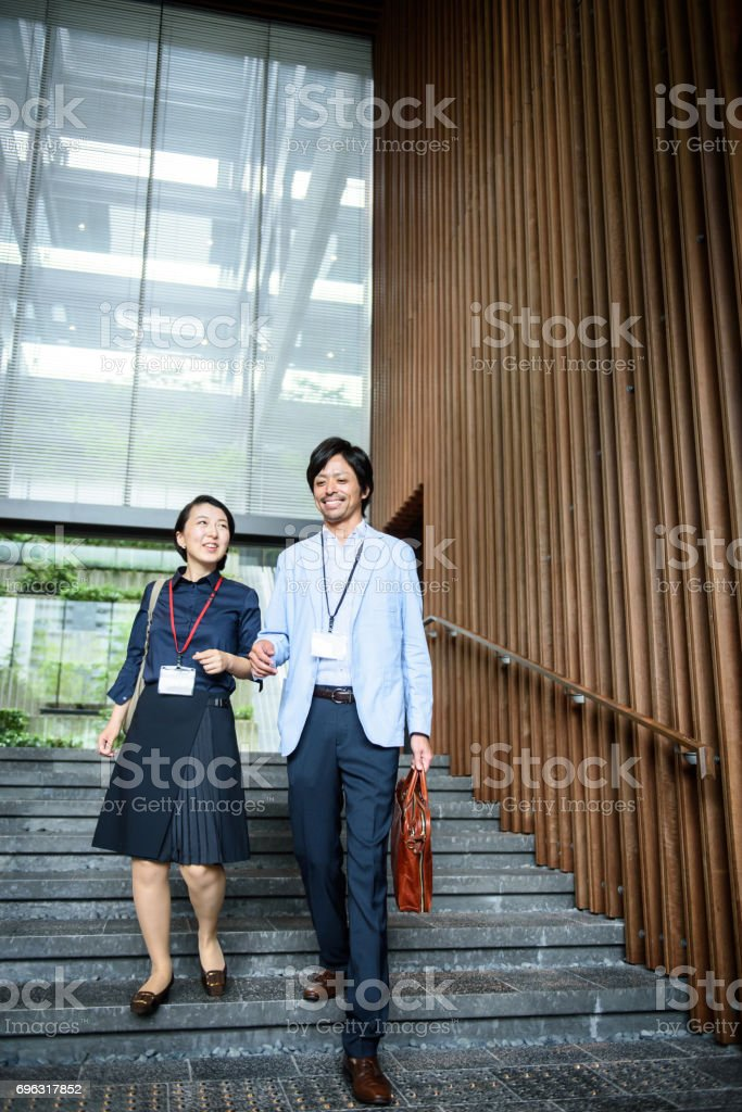 business scene in Japan stock photo
