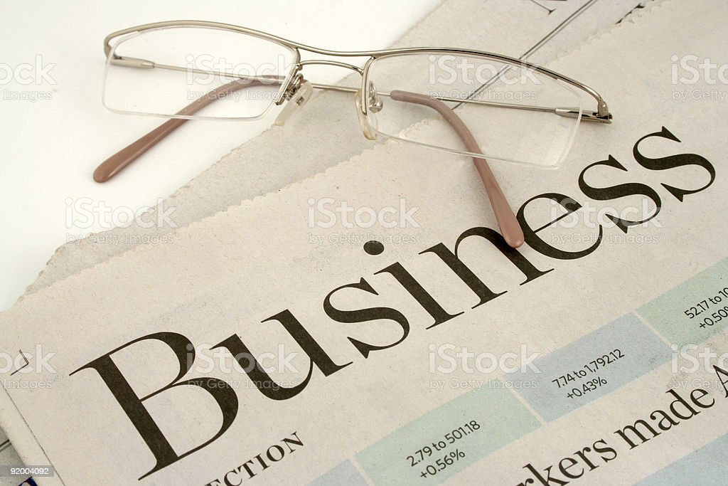 business section stock photo