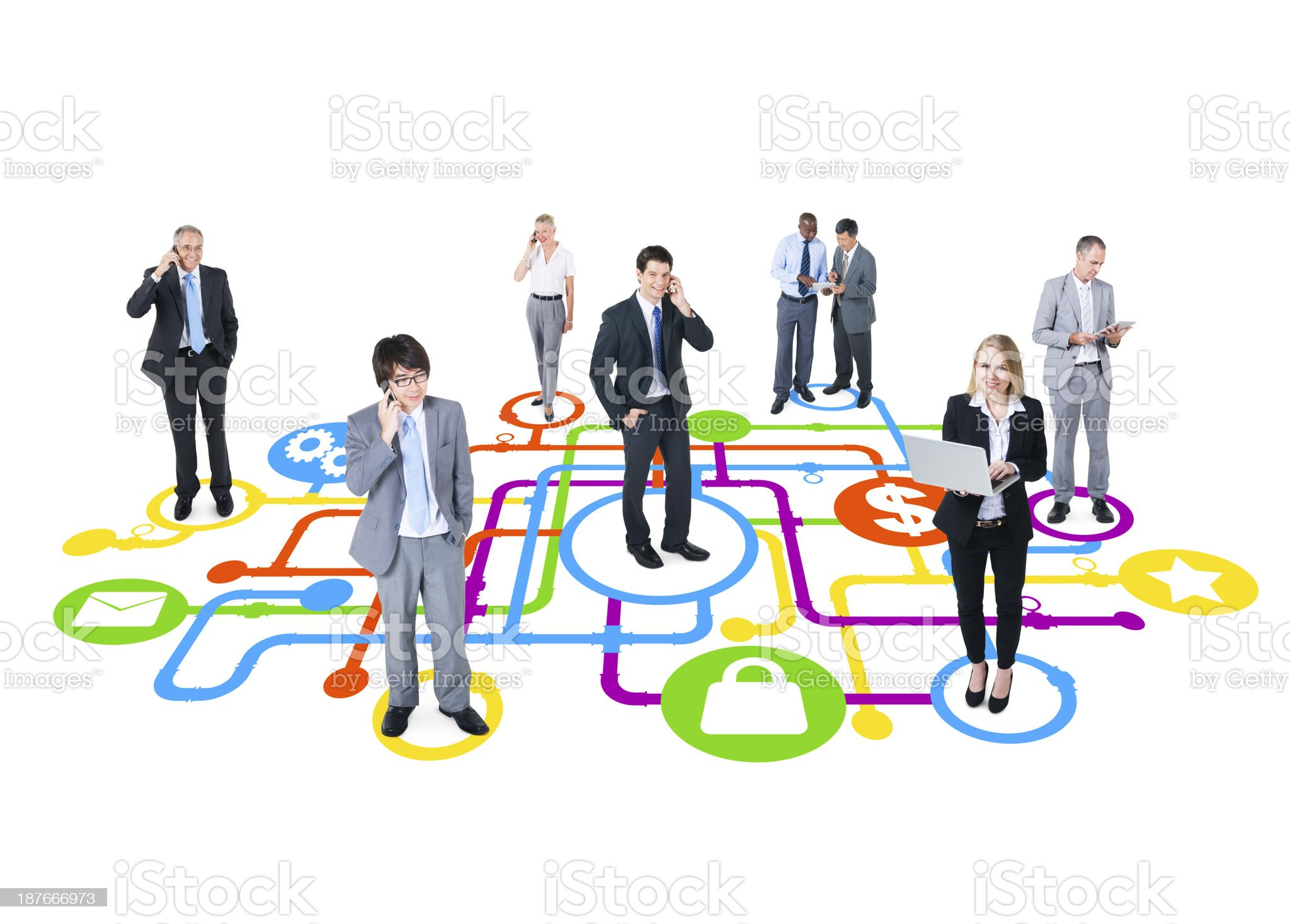 Business Security Group royalty-free stock photo