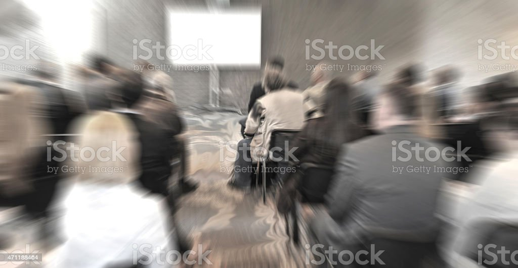 A business seminar blurred out stock photo