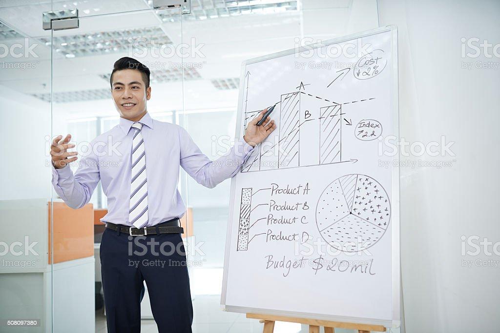 Business seminar stock photo