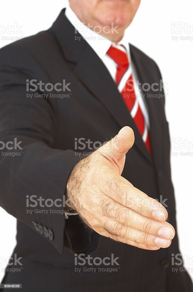 business series: businessman handshake royalty-free stock photo