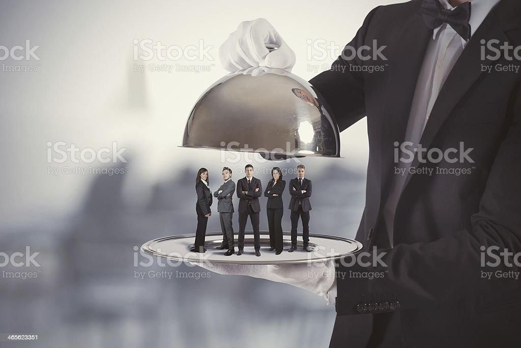 Business service and First Class team stock photo
