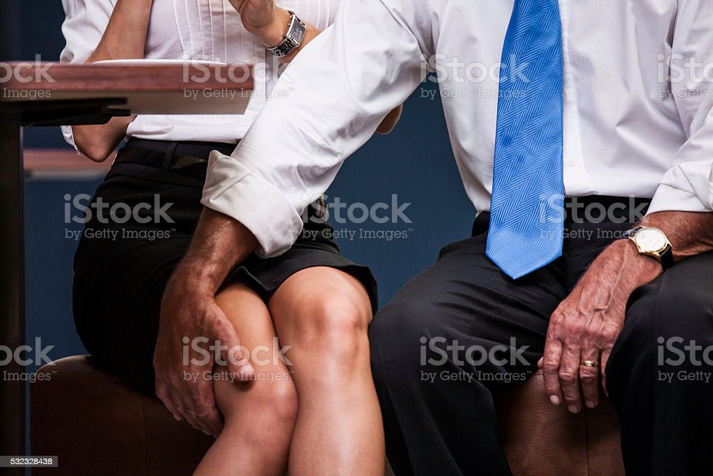 Business sexual harassment stock photo