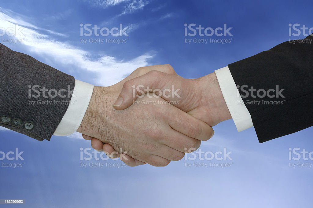 business shake hands royalty-free stock photo