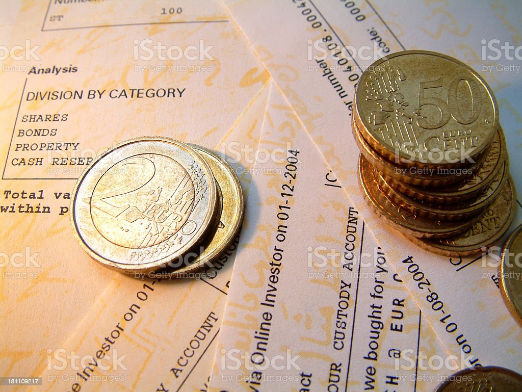 business - shares and money stock photo