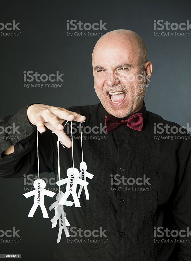 Business shark boasting royalty-free stock photo