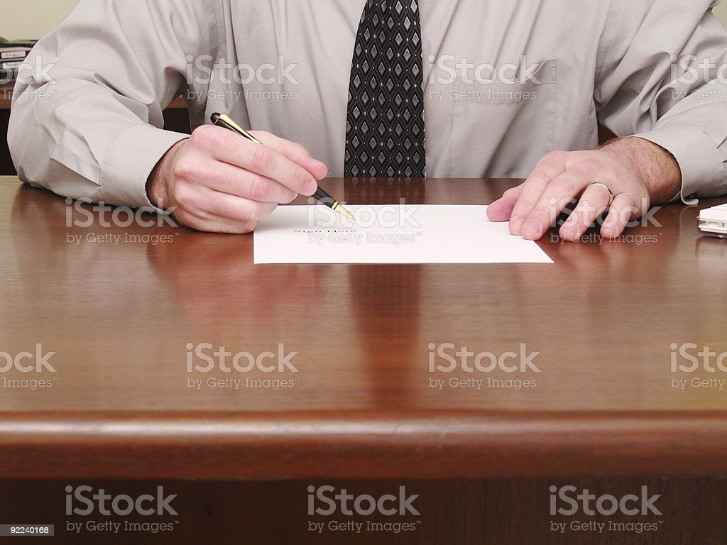 Business Sign Here royalty-free stock photo