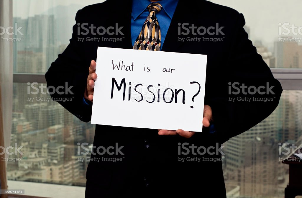 Business Sign Mission royalty-free stock photo