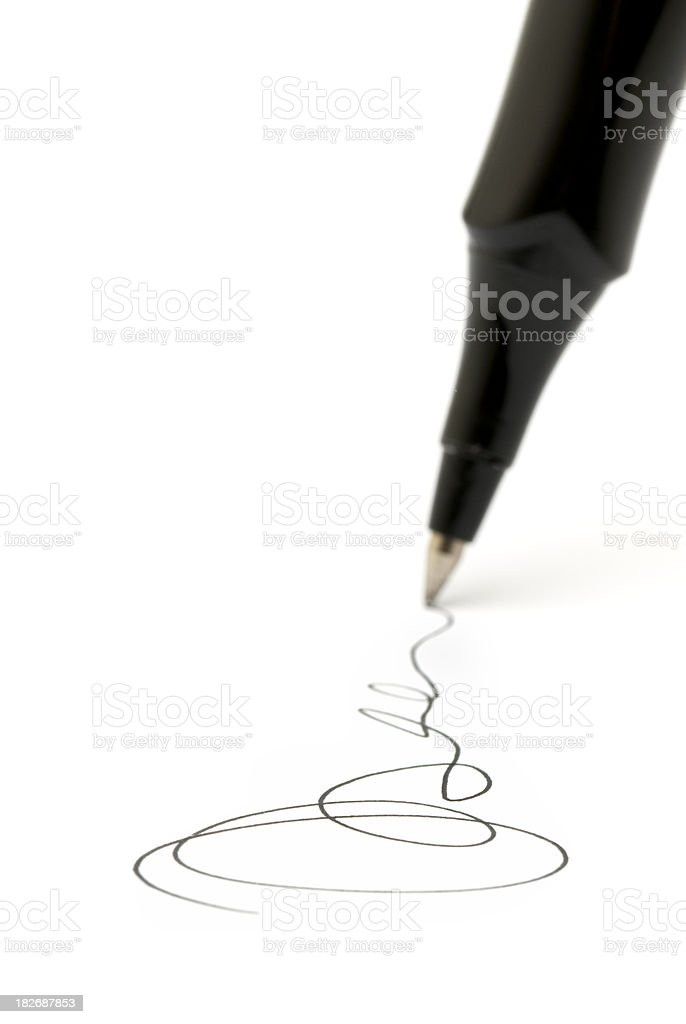 Business Signature royalty-free stock photo