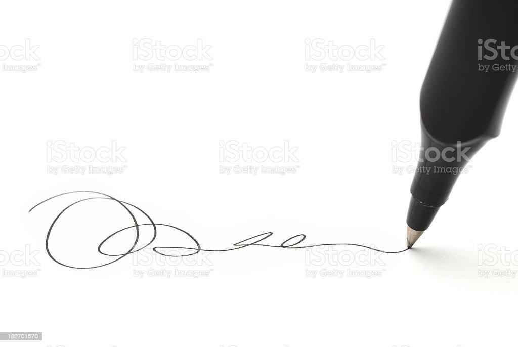 Business Signature stock photo
