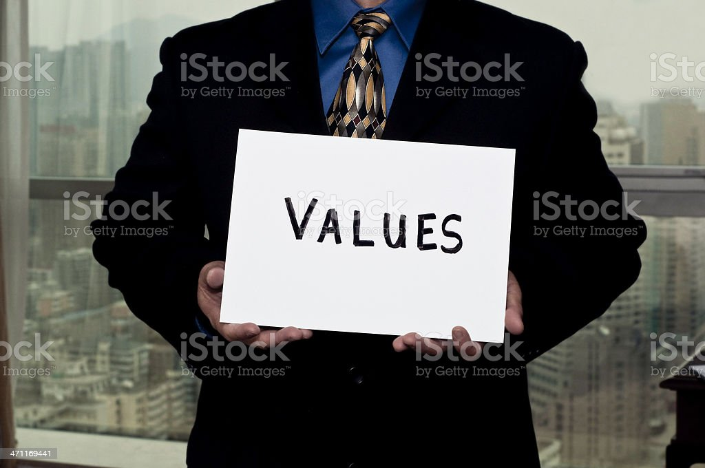 Business Signs Values royalty-free stock photo