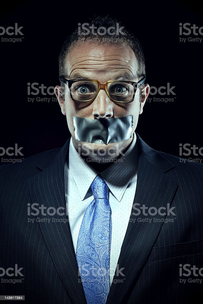 Business Silence Hostage Man royalty-free stock photo