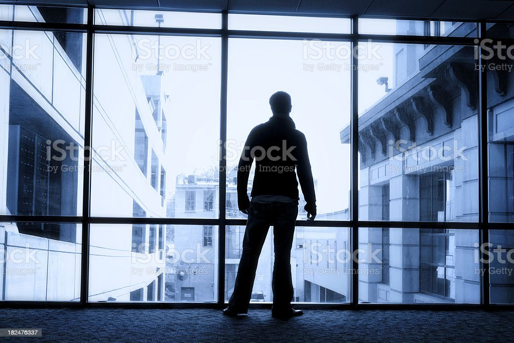 Business Silhouette royalty-free stock photo