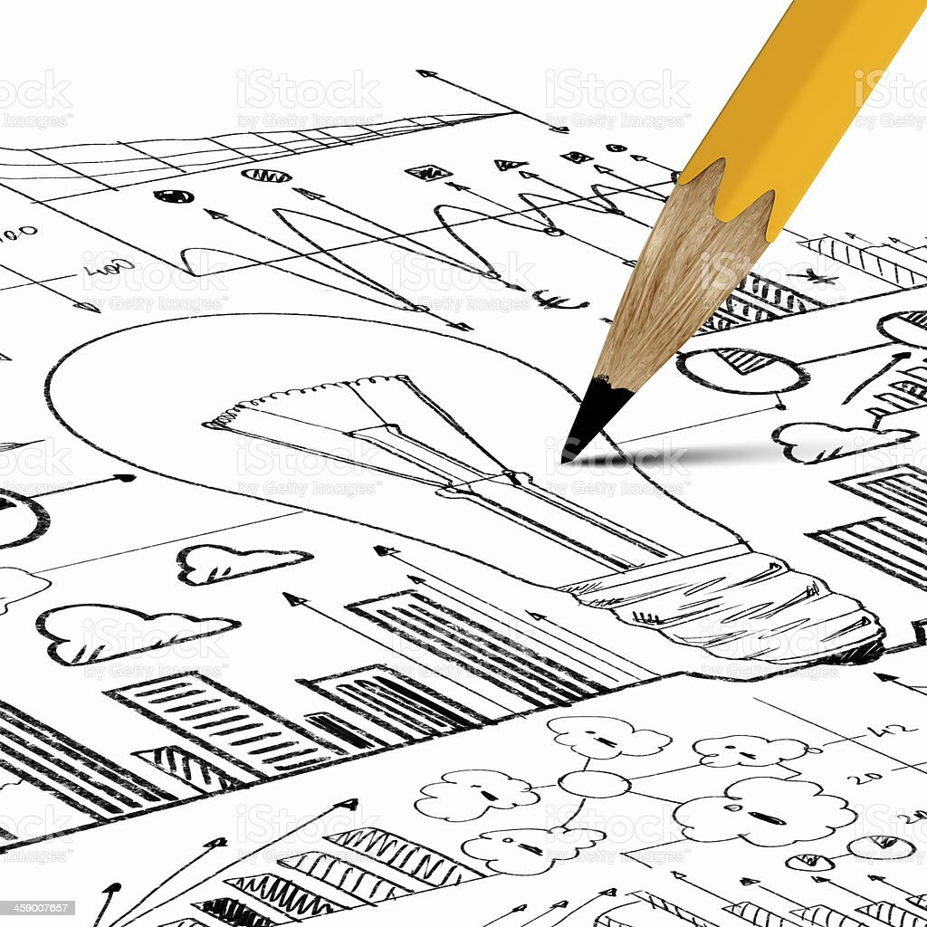 Business sketch royalty-free stock photo