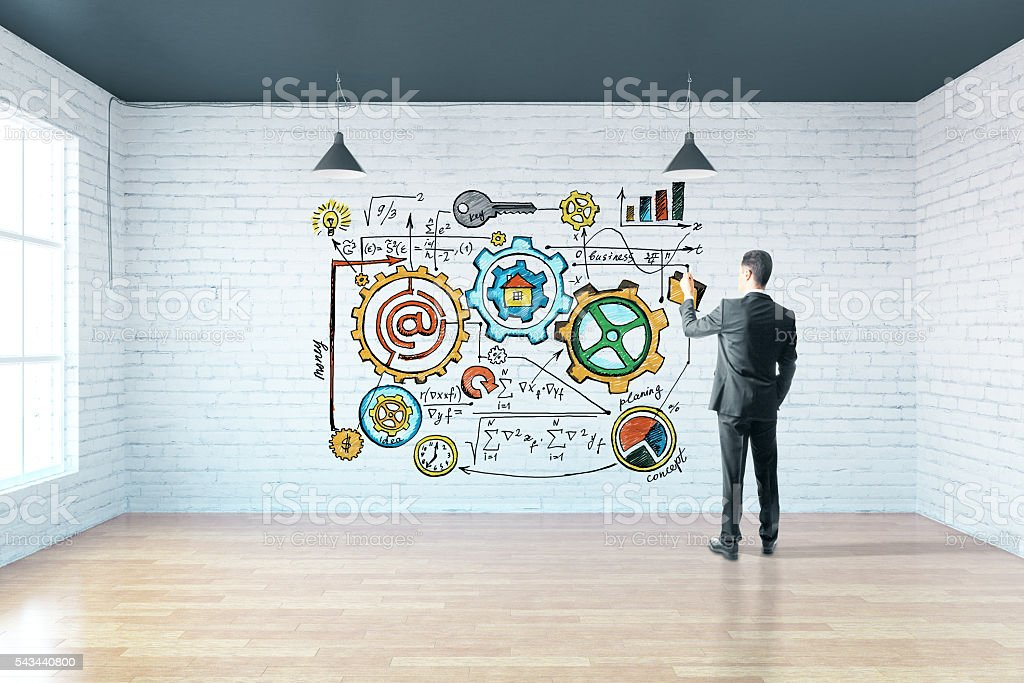 business sketch stock photo