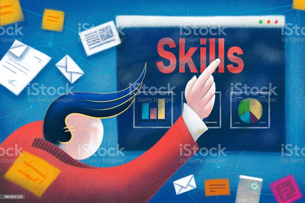 Business Skills Concept stock photo