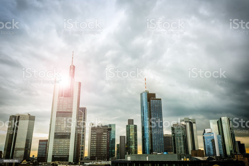 Business Skyline in Frankfurt stock photo