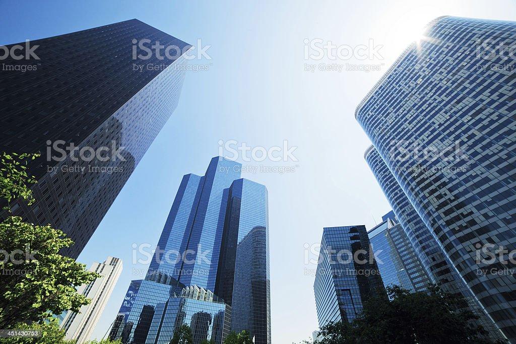 Business skyscrapers. La Defense, Paris, France stock photo