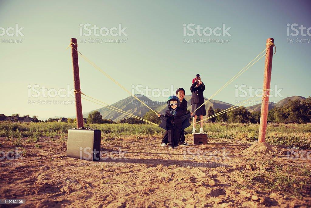 Business Slingshot stock photo