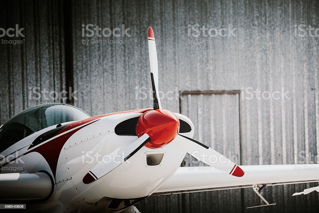 Business small plane. stock photo