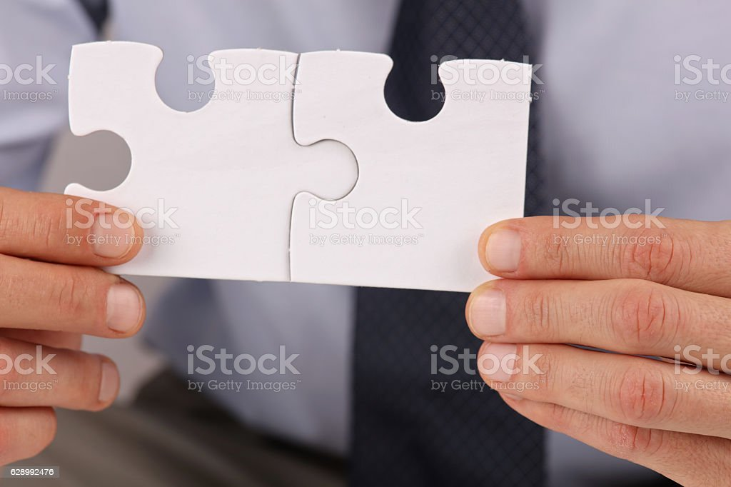 Business solutions, partnership concept. stock photo