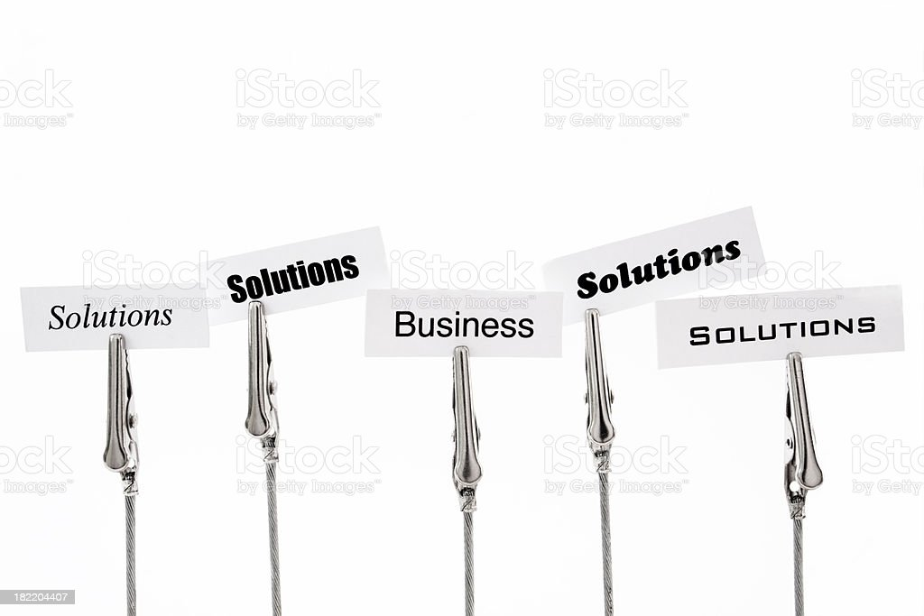Business solutions. stock photo