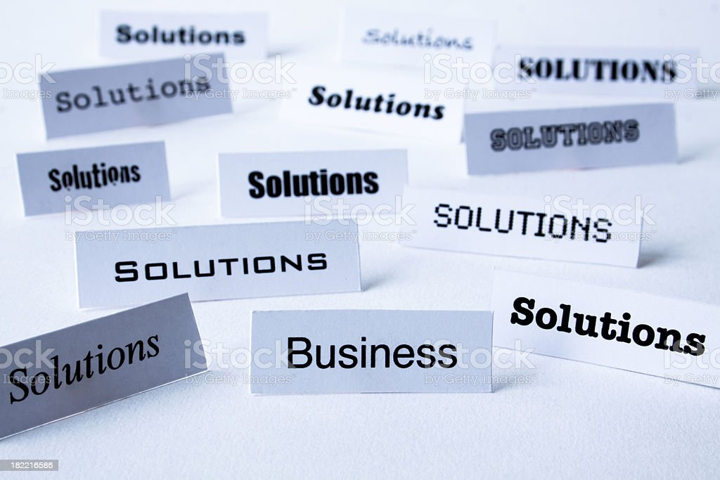 Business solutions. royalty-free stock photo