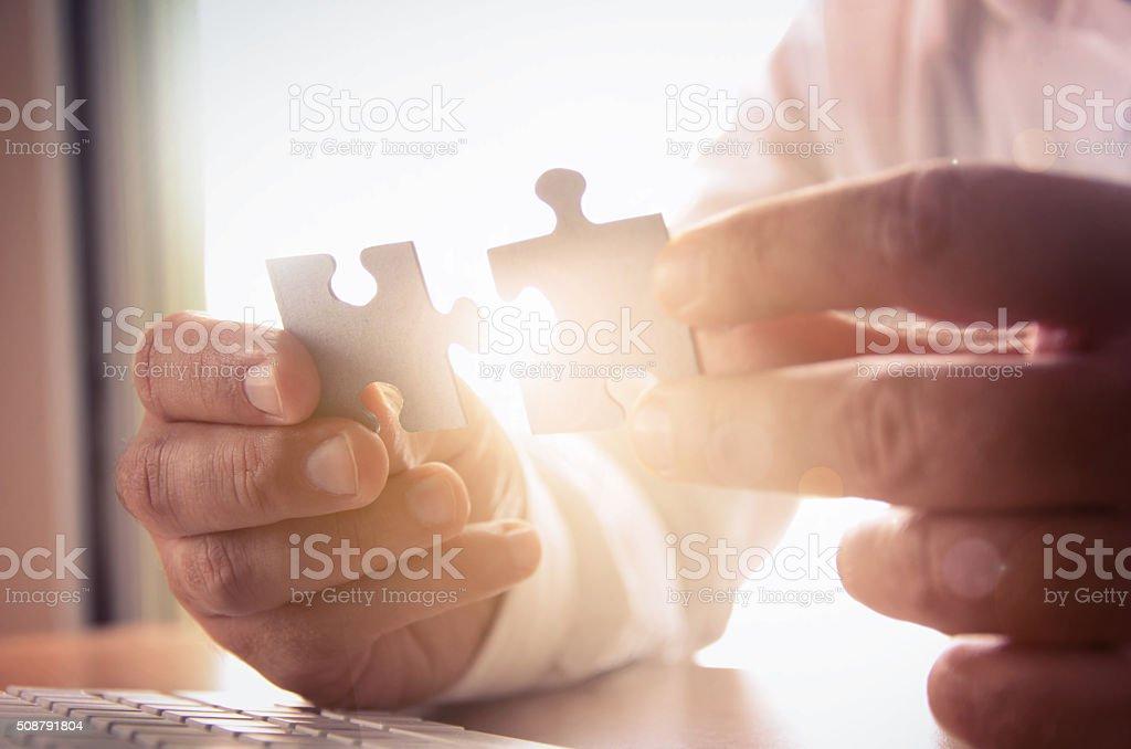 Negocio de éxito las soluciones, y concepto de estrategia foto de stock libre de derechos