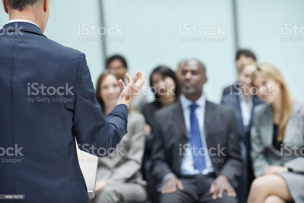 Business speech royalty-free stock photo