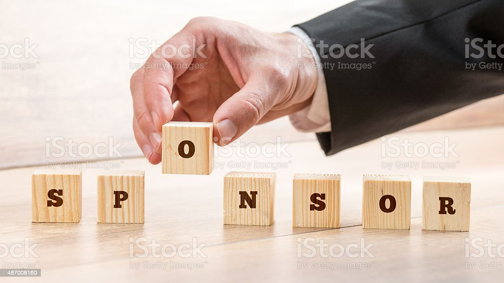 Business Sponsor and scholarship concept stock photo