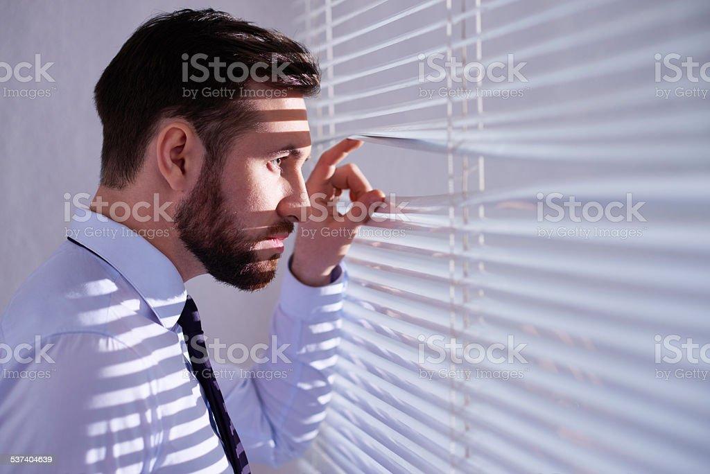 Business spy stock photo