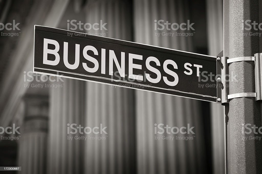 Business St. royalty-free stock photo