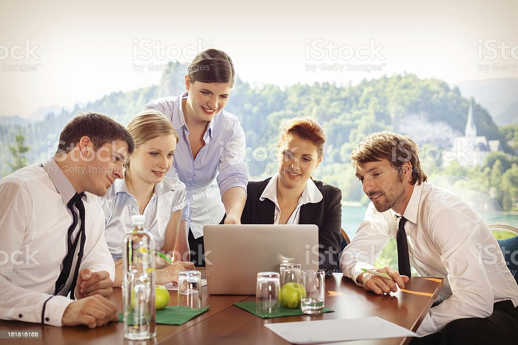 Business Startup Company Meeting royalty-free stock photo