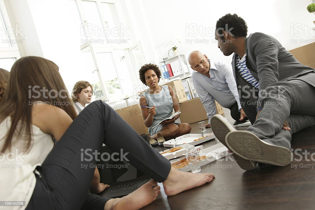 Business Start-up, Lunch Meeting stock photo