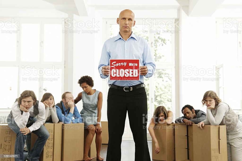 Business Start-up, Sorry, We're Closed royalty-free stock photo