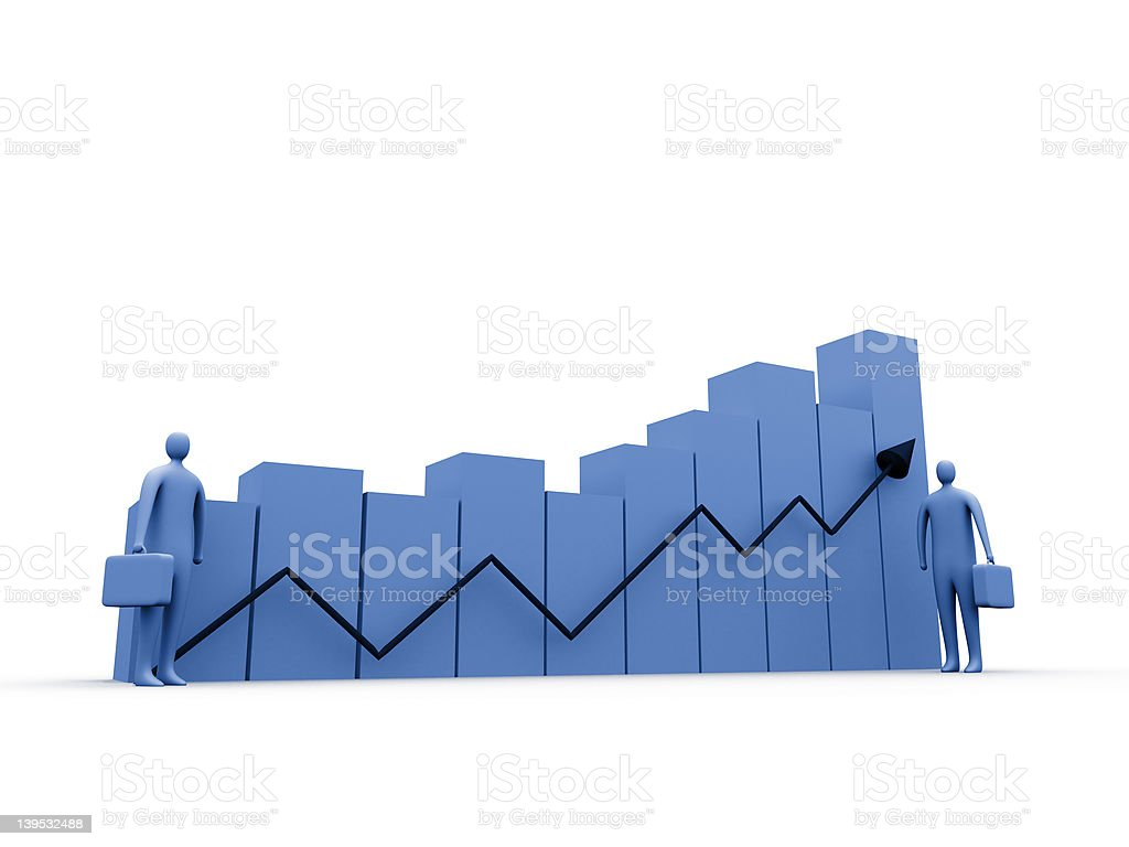 Business statistics #2 royalty-free stock photo