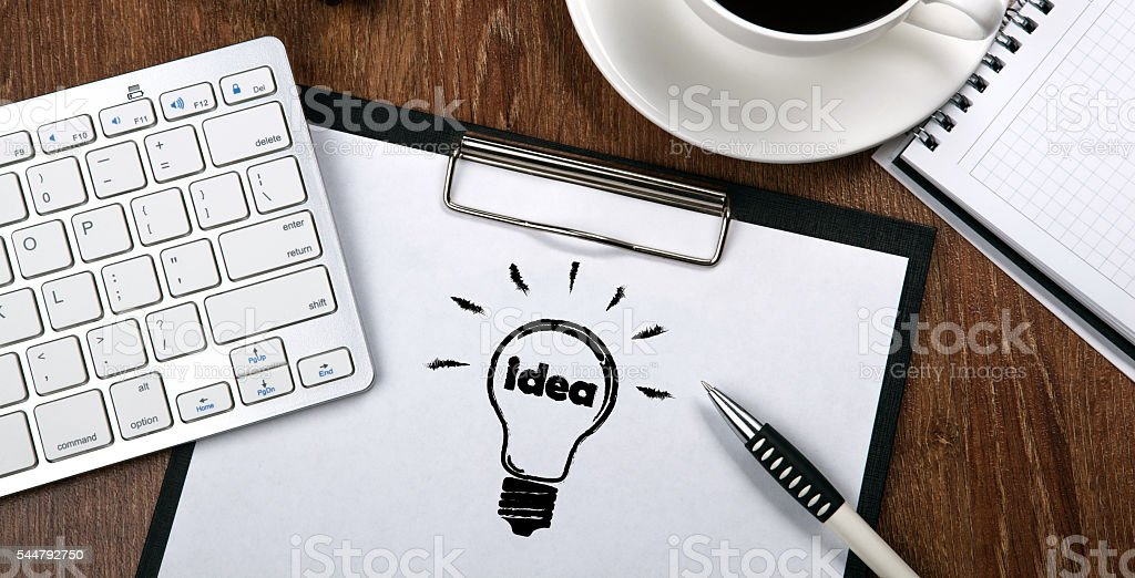business still life with ideas stock photo