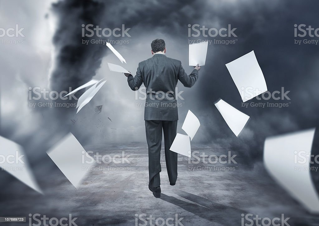 Business Storm stock photo