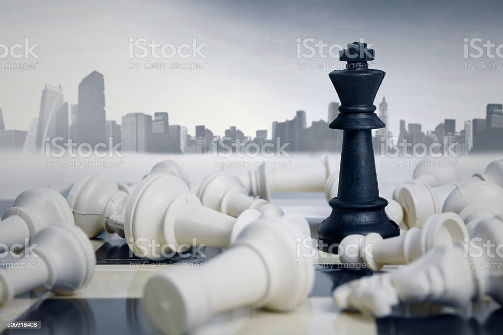 Business Strategic Formation in The Chess Game stock photo