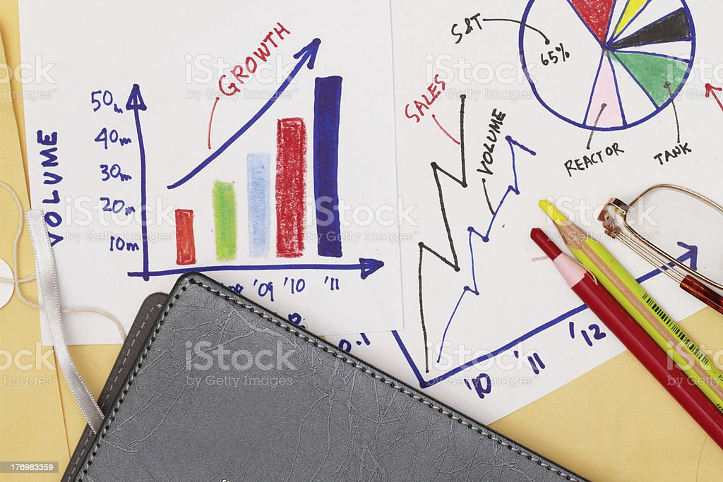 Business strategy abstract royalty-free stock photo