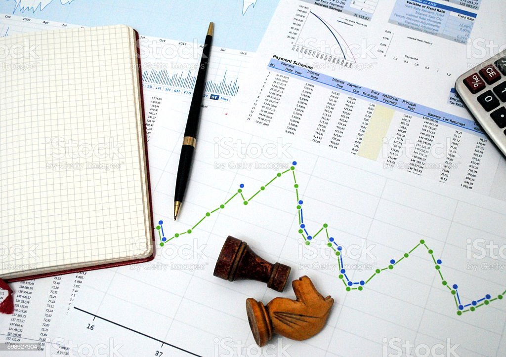 Business strategy and global financial instability stock photo
