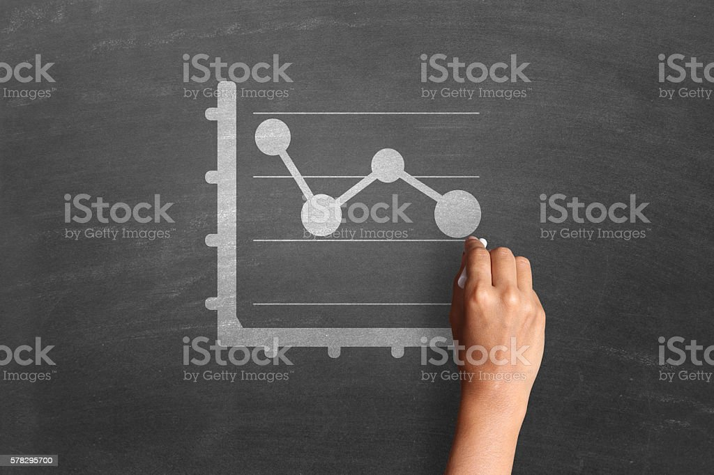 Business strategy and progress report stock photo
