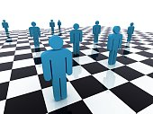Business strategy chess people concept