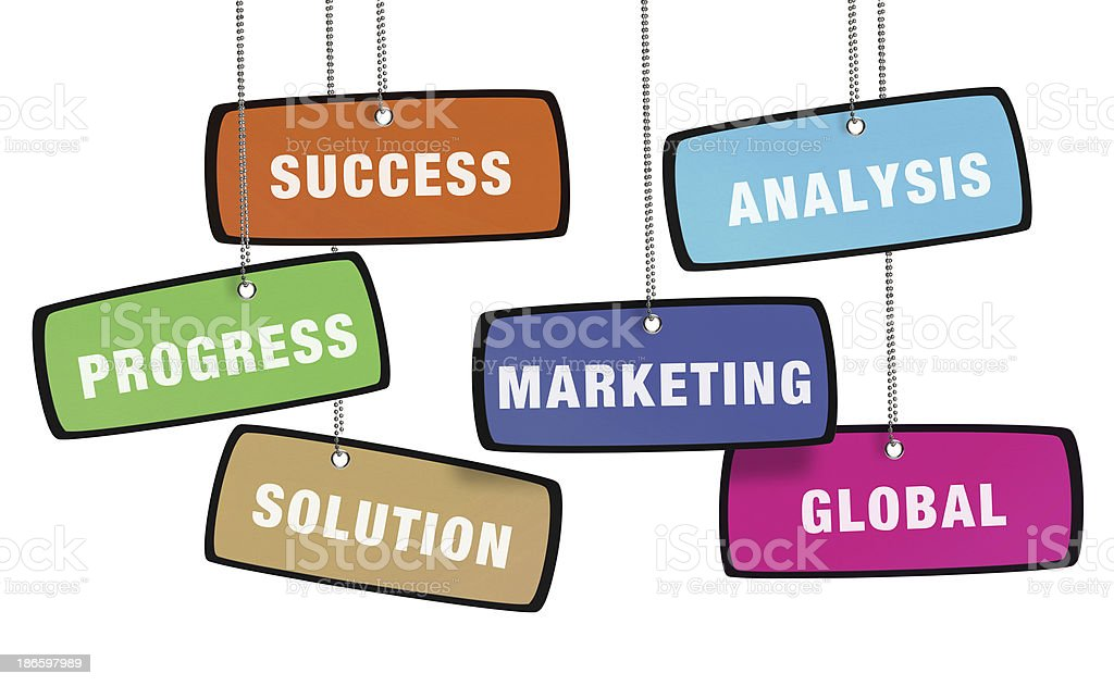 Business Strategy Colorful Tag (Clipping Path) royalty-free stock photo