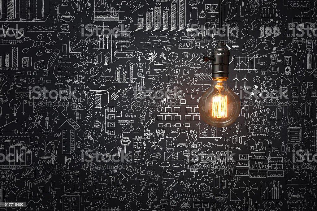 Conceito de estratégia de negócio - fotografia de stock